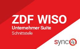 ZDF WISO Unternehmer Suite Schnittstelle mit sync4® Logo