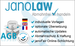 AGB Hosting Service from janolaw Logo