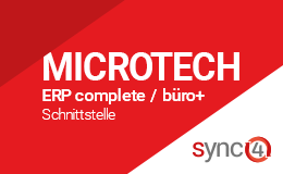 Microtech büro+ / ERP-complete Schnittstelle mit sync4® Logo
